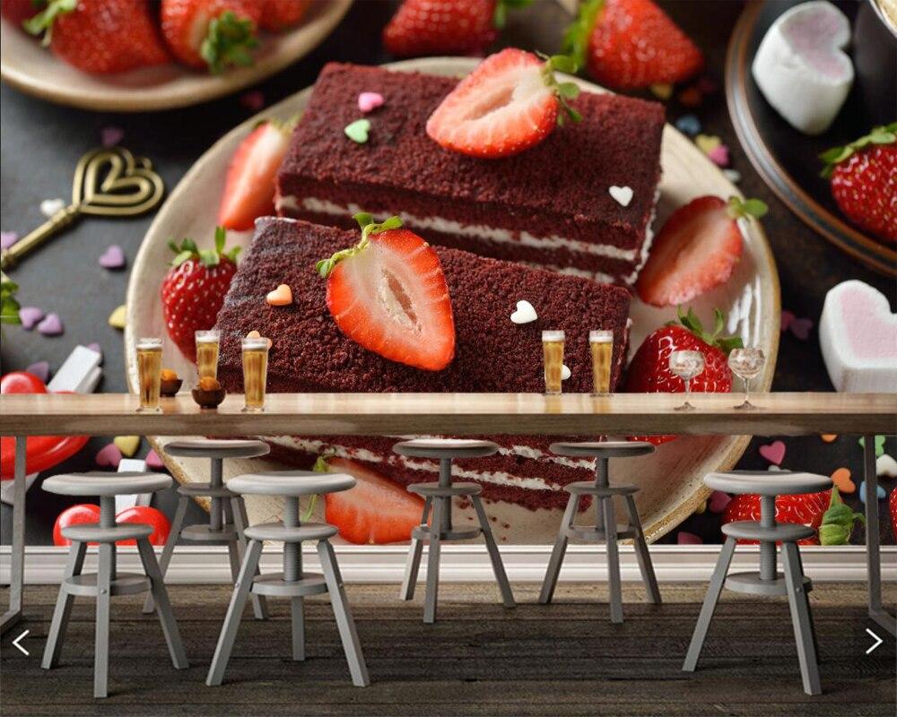 Papelデ比べお菓子ケーキイチゴ食品壁紙 リビングルームベーカリー