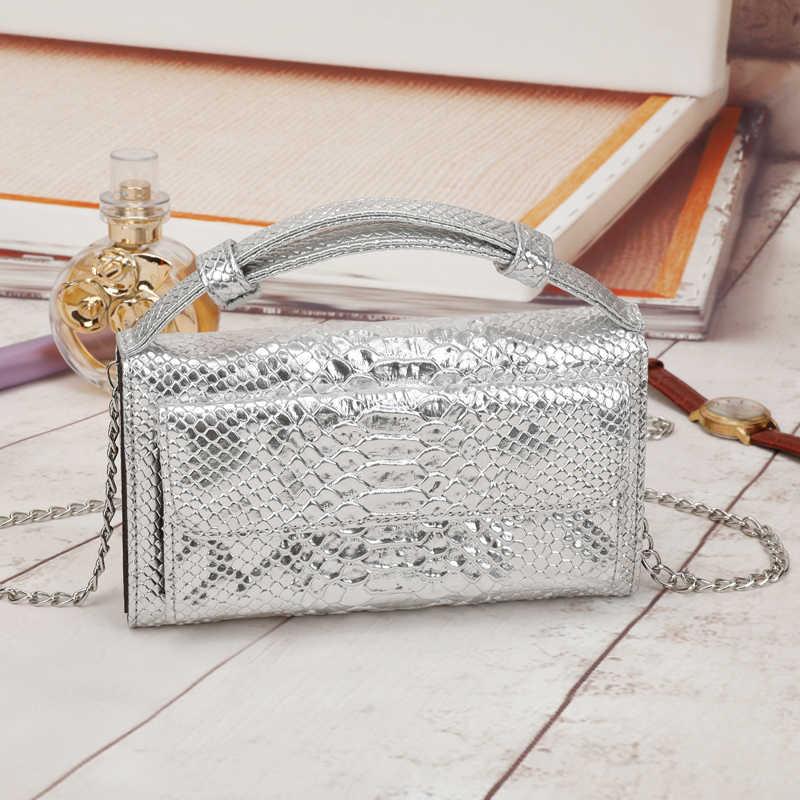 Sacs à main en cuir véritable de luxe sac à bandoulière à bandoulière design petit motif Crocodile pochette en cuir sac de fête pour femmes