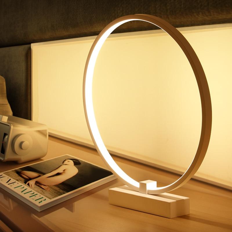 Современная настольная лампа для спальни Гостиная Настольная лампа офисная лампа для чтения света тенты кнопочный переключатель испански...