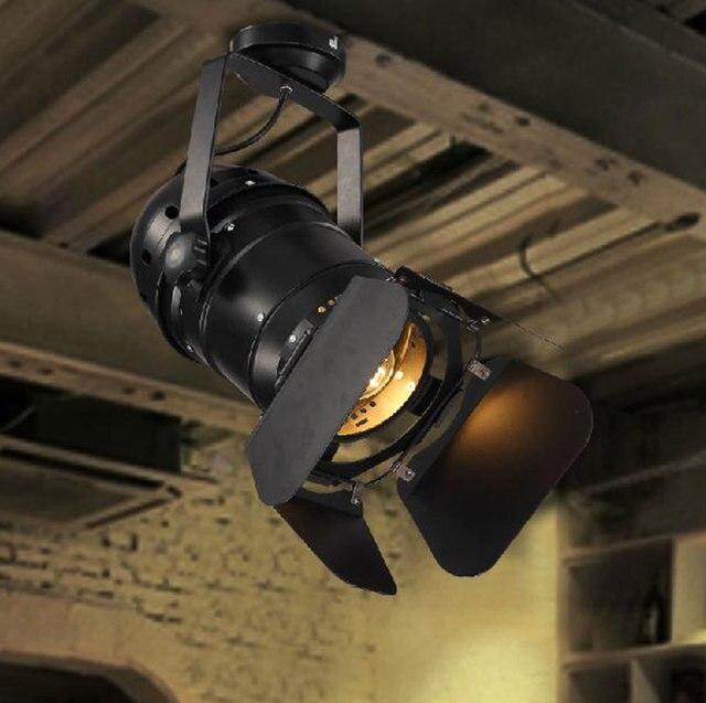110 240v E27 Vintage Edison Bulb Theater Spotlights Ceiling Light