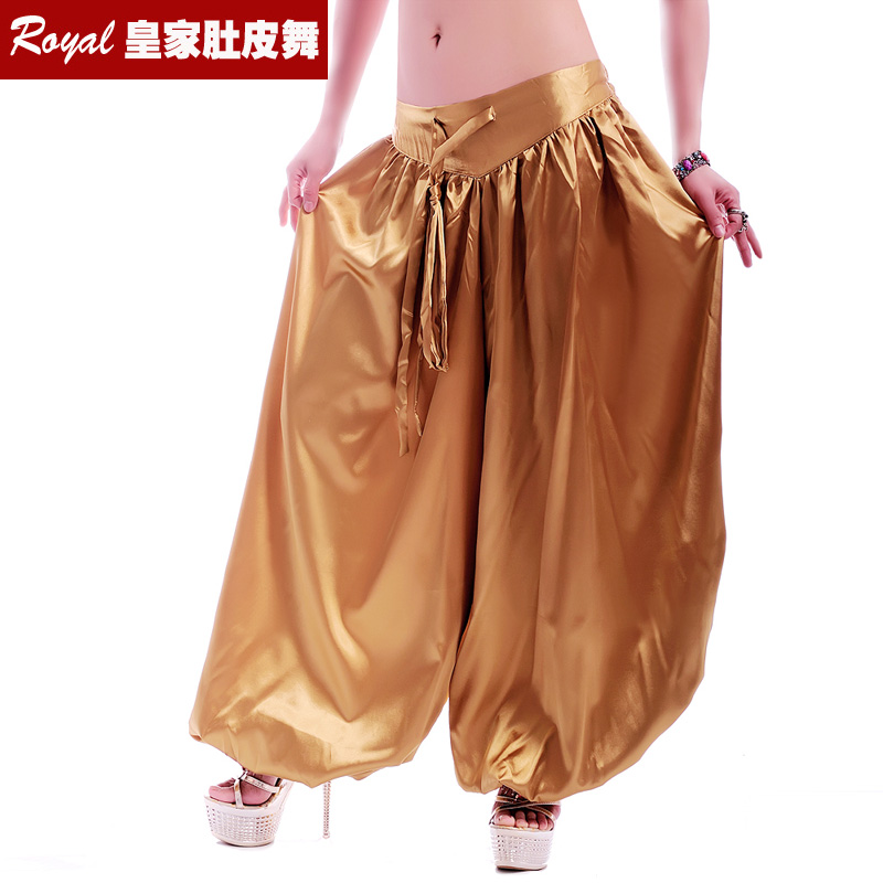 New Silk Imitation Pants American Tribal Style Belly Dance Pant Bellydance Clothes Bellydancing Performance Costume ATS Bloomers