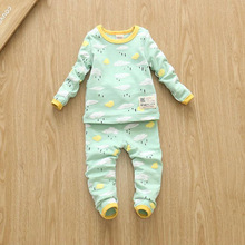 15 new children underwear set men and women 0-1-2-3-4 years old children homewear baby pajamas one generation