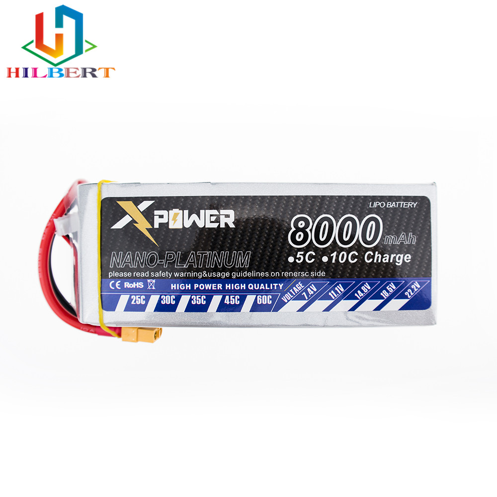 14.8v <font><b>4s</b></font> <font><b>8000mah</b></font> 30C max 35C <font><b>Lipo</b></font> battery Xpower Lithium batteries XT60/T/EC5 plug for RC Helicoptes Airplanes Drone parts image