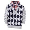 2017 Del Otoño Del Resorte nuevos niños niños suéter de la rebeca de los suéteres para niños patrón prendas de vestir exteriores