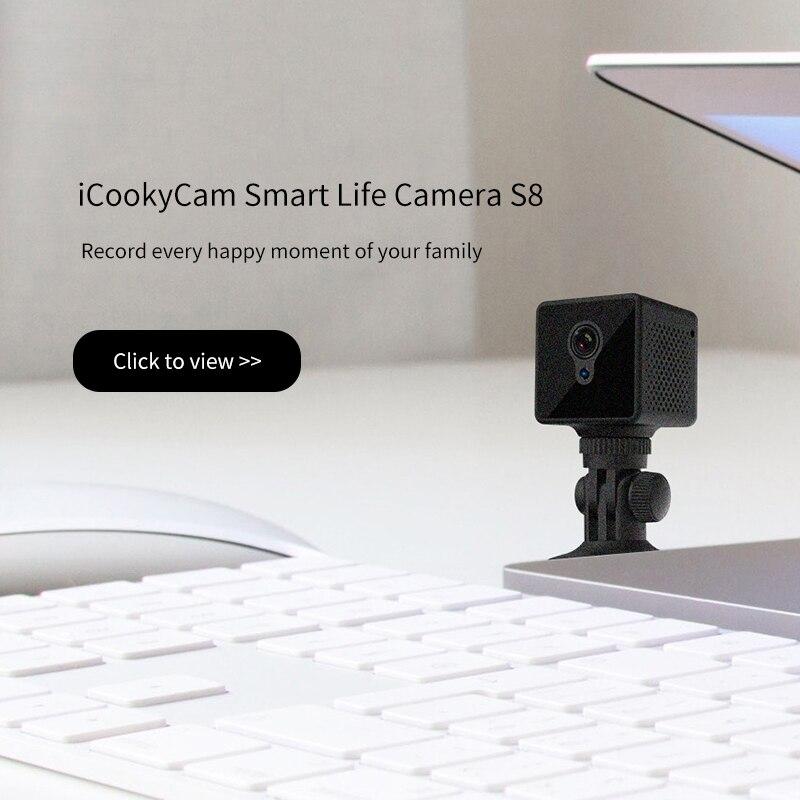 Image 5 - S8 Mini Câmera IP Wi Fi de Segurança Em Casa Câmera de Vigilância  de Rede Sem Fio Wifi Night Vision Baby Monitor Câmera 8 horas de  trabalhoCâmeras de vigilância
