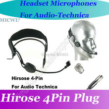 MICWL ME3 Head worn Condenser Headset Microphone for Audio Technica Wireless Beltpack System Hirose 4Pin connector micwl me3 head worn condenser headset microphone for audio technica wireless beltpack system hirose 4pin connector