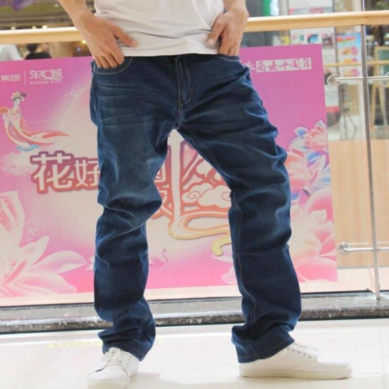 ФОТО Top Fashion Brand New Mens Straight Jeans loose Fit Hip Hop jeans  Long jeans men's jeans wholesale Plus Size 28-38