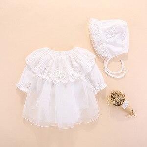 Image 1 - 2019 Одежда для новорожденных девочек, платья, весеннее платье для крещения на возраст 0 3 месяца, детские платья, комплекты платьев для крещения на возраст 6