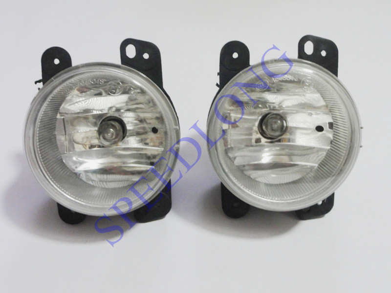 2 Pcs/Pair LH+RH Front driving fog lights lamps 04805856 for DODGE JOURNEY 2009-2010 1 pair lh rh fog lamps driving lights with bulb for nissan qashqai 2008 2014