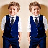 Fashion 2018Blue boys suits for weddings kids Blazer Suit for boy costume enfant garcon mariage terno infantil disfraz infantil