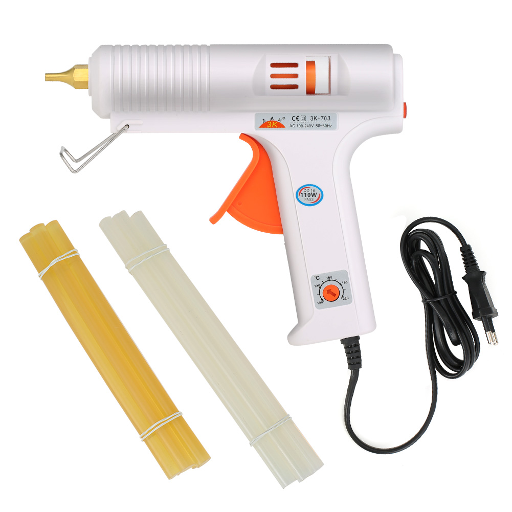 Glue Gun110W Hot Melt Pistol Adhesive Rods 11MM Glue Stick Industrial Thermo Electric Heat Temperature Tools Handmade Sticks ALI 1pcs yellow 300w temperature constant electric thermo heating hot melt adhesive glue gun pistol puller for 11mm glue stick
