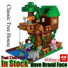 Лепин мой мир 406 шт. классический домик на дереве LegoINGly Minecraft Модель Цифры строительные блоки кирпичи детские игрушки для детей подарок