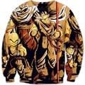 autumn new Women Men Long Sleeve Outerwear classic Anime Dragon Ball Z 3D Digital Printing Sweatshirt Vegeta Crewneck Pullovers