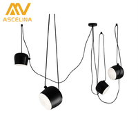 ASCELINA Nordic Modern Pendant Lights Loft Vintage Pendant Lamp Led Light Fixtures Christmas Decorations For Home