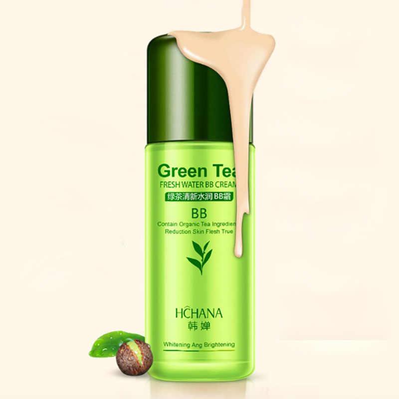 Chá Verde Natural Perfeita Cobertura BB Creme de Clareamento Hidratante Cartilha Corretivo Fundação Maquiagem Nude CC Creme Para O Rosto Beleza