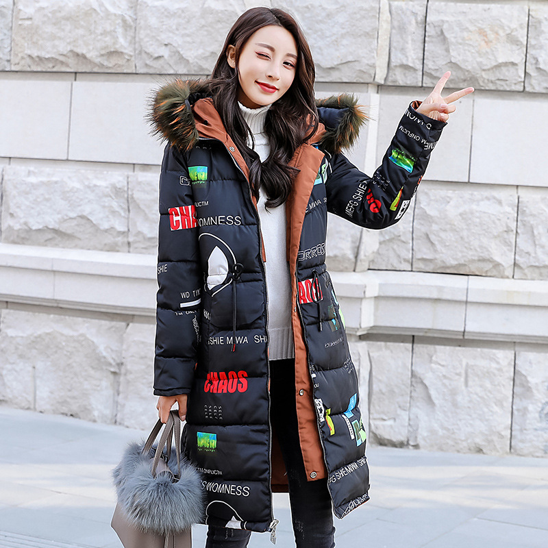 jaquetas femininas Winter long jacket Women Snow wear fashion thicken   parkas   female 2018 new slim waist warm coat overcoat M-2XL