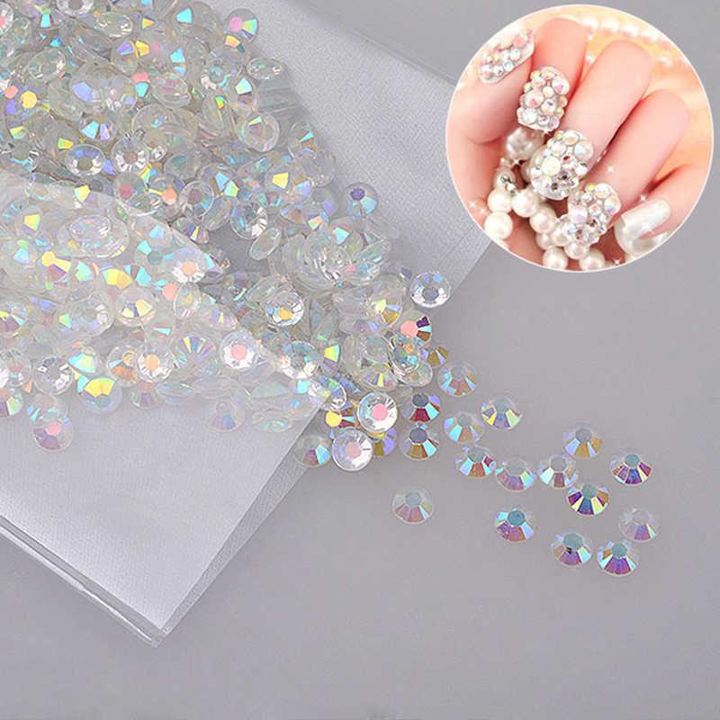 1000pcs/Lot 4mm DIY Glitter Rhinestone White AB Acrylic Diamond Drill for 3D Nail Art Decoration Phone Case Home Decor