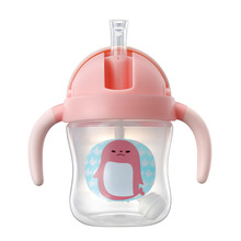 VALUEDER Baby Water Bottle Hot-Sale PP Non-Spill Straw Cup with Cute Penguin Shape