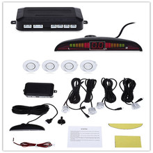 1set Auto Reversing Detector with LED Digital Display 4 Sensor and Step-up Alarm Car Distance Detection System Parking Sensor