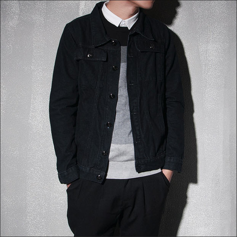 Black Denim Coat