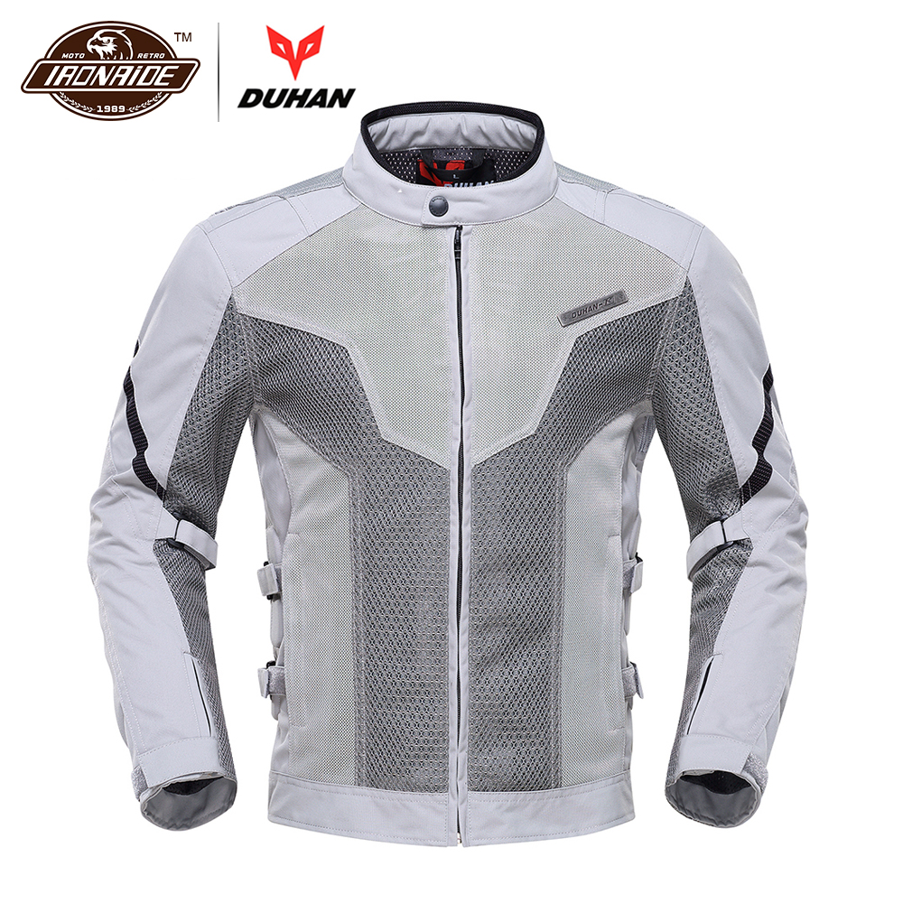 DUHAN Motorcycle Jacket Spring Summer Moto Jacket Motocross Riding Clothing Breathable Motorcycle Jacket Men Protective Gear rsj285 jacket summer motorcycle jacket men riding windbreaker with 5 sets of protective equipment