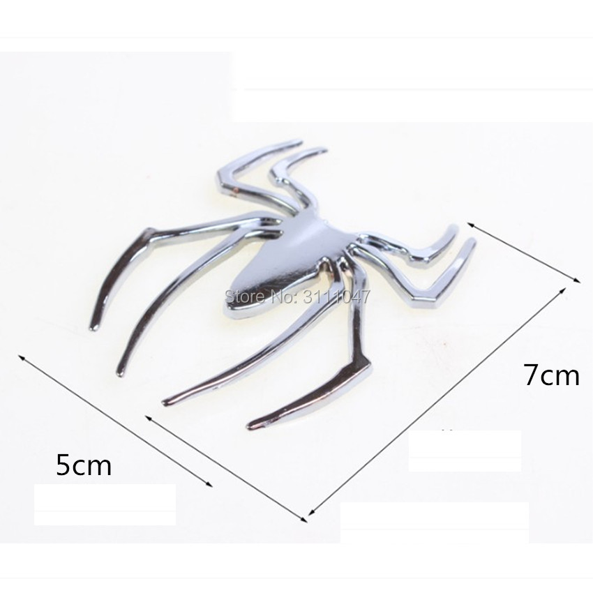 Car 3D Metal Sticker <font><b>Chrome</b></font> Spider Emblem Logo Decal for Viper Challenger <font><b>Peugeot</b></font> 307 206 308 407 207 3008/2017 2008 <font><b>208</b></font> 508 301 image