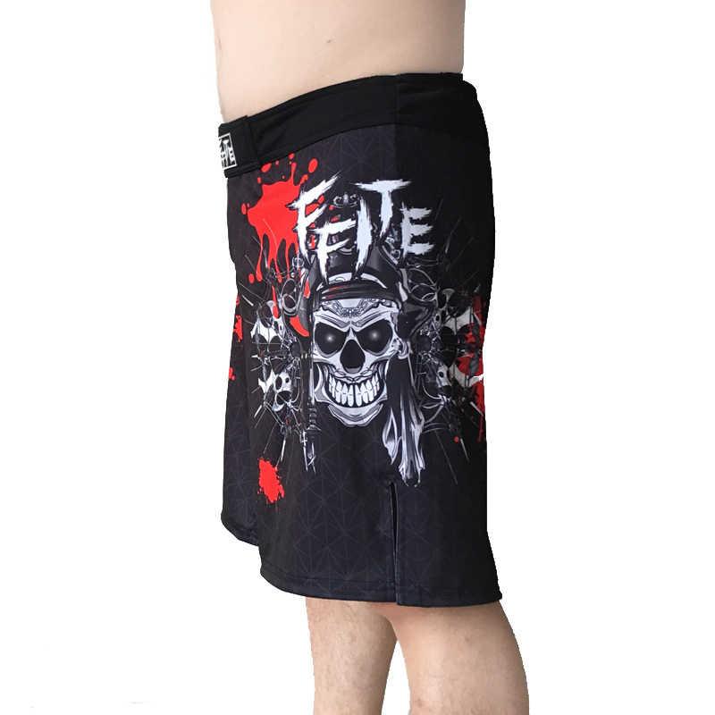Ffite Pertempuran Mma Celana Pendek Muay Thai Pendek Pria Tinju Kebugaran Celana Olahraga Pakaian Boxeo Gulat Celana Latihan MMA batang