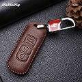Чехол для ключей для Mazda 3 6 CX5 CX7 323 626 Familia  чехол для ключей из кожи Demio Mazdaspeed  чехол для ключей  сумка  кольца для ключей  брелок-держатель