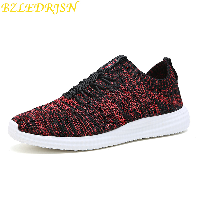 Men 39 s Sport Running Shoes Tennis shoes Sneakers Summer Mesh Breathable Lightweight Platform Sneakers Homme Black Red in Running Shoes from Sports amp Entertainment