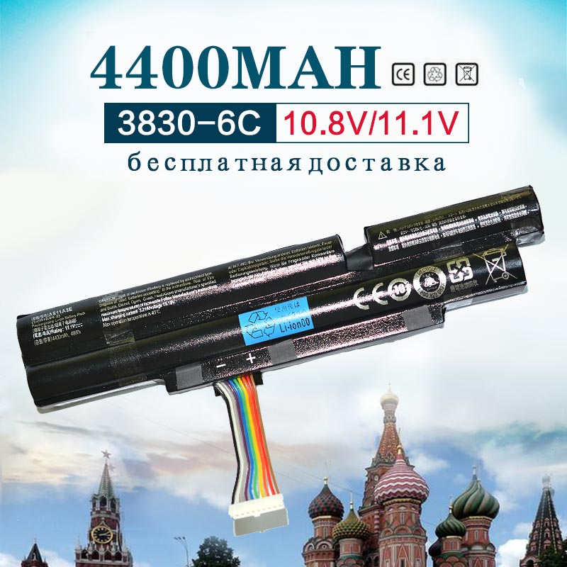 4400mah 6Cells Laptop Battery For Acer Aspire TimelineX 3INR18/65-2 AS11A3E AS11A5E  4830TG 5830T 3830TG 4830T 5830TG 3830T