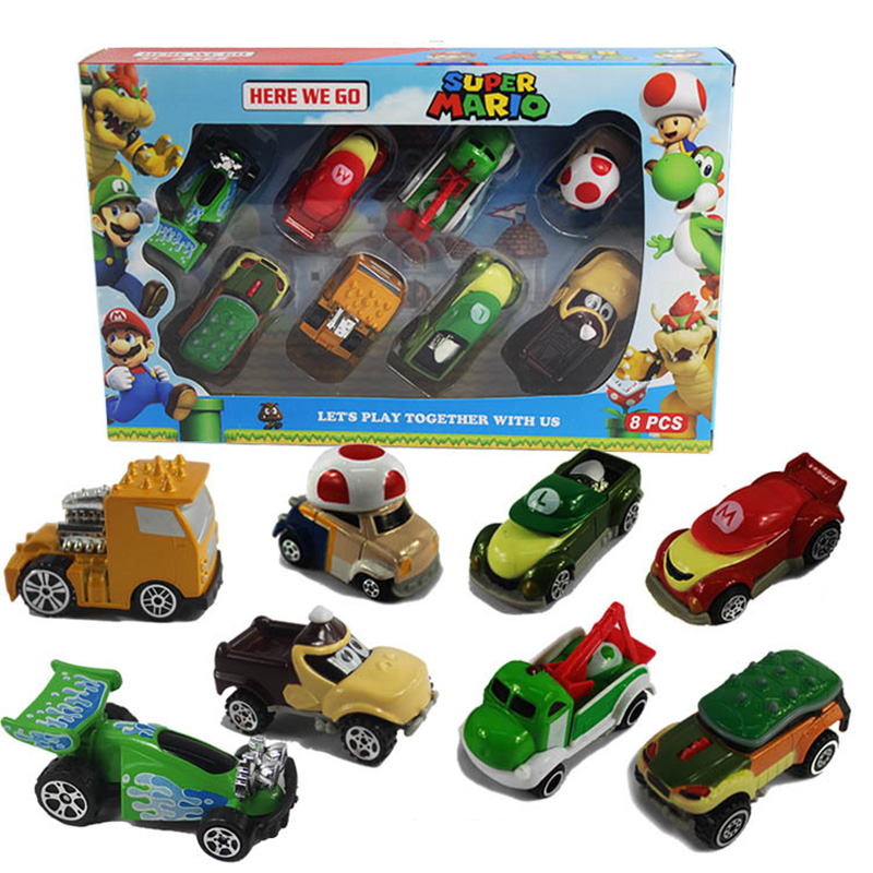 8pcs/set Super Mario Bros figures Alloy Metal Toy Car Figure Car Toys Christmas Birthday Gift For Children 8pcs/set Super Mario Bros figures Alloy Metal Toy Car Figure Car Toys Christmas Birthday Gift For Children