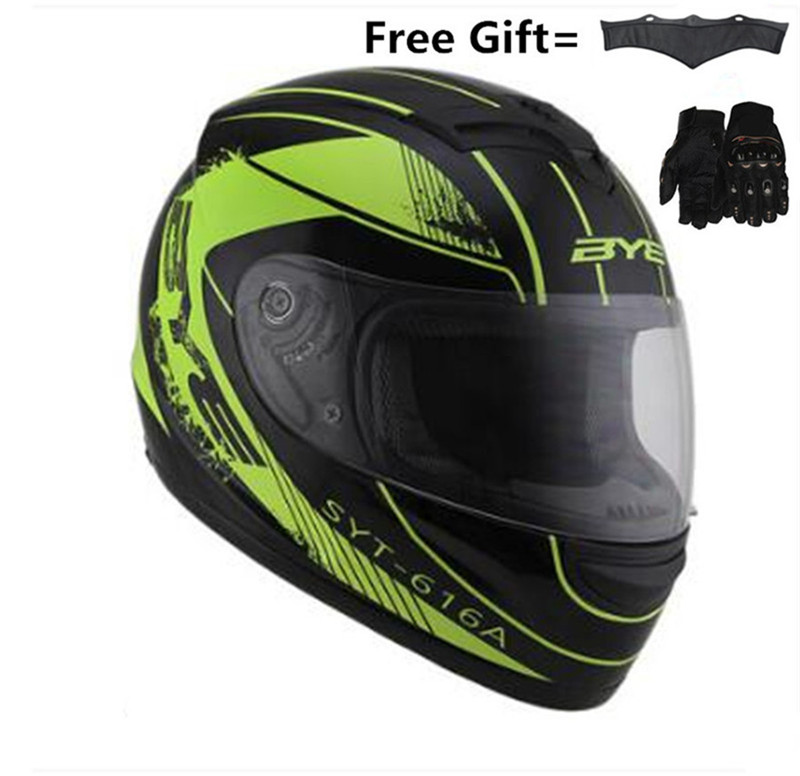 New Arrive Motorcycle Helmet High Quality Full Face Off Road Racing Helmet Casco Moto Capacete 616 A Gloss Yellow Green XXXL
