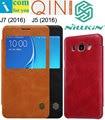 Nillkin Цинь подлинный реальный Окно Кожаный Чехол Для Samsung Galaxy J5 J7 2016 J510FN J710FN