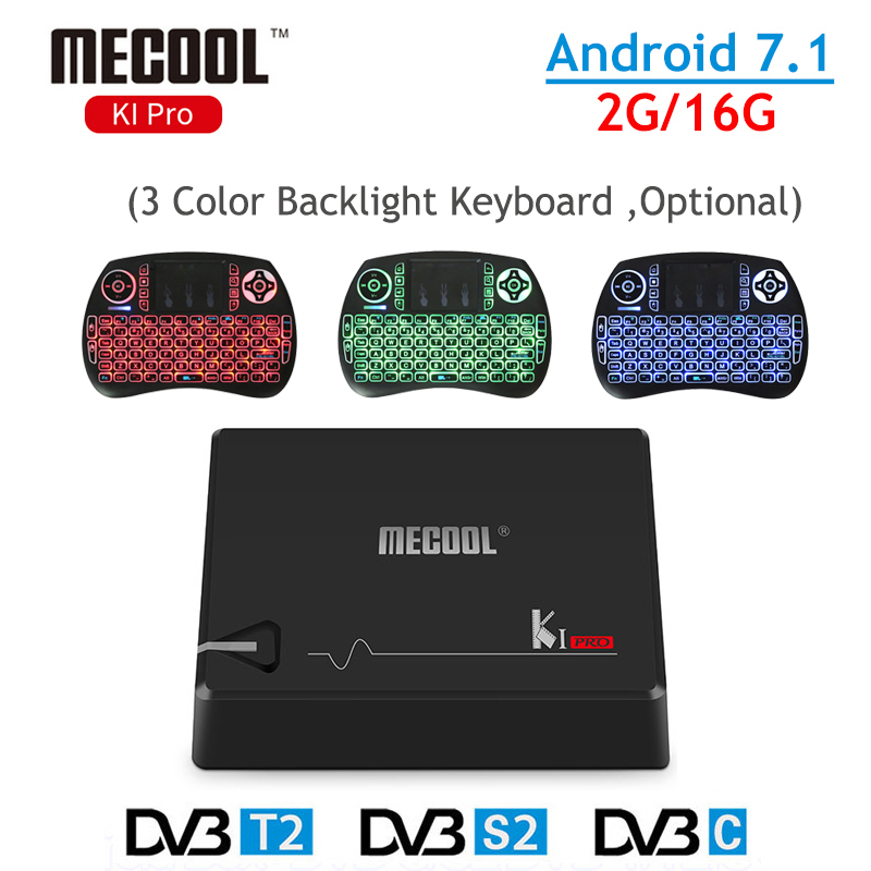 MECOOL Android TV Box 2G/16G KI Pro DVB-T2 DVB-S2 Amlogic S905D Android 6.0 2.4G/5GHz WIFI Gigabit LAN 4K Android TV Set Top Box zidoo x6 pro tv box 2g 16g android 5 1 rockchip r3368 wifi bluetooth4 0 1000m ethernet gigabit lan