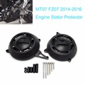 Motor Engine Stator Case Cover Engine Protective Cover Protector MT-07 MT07 FZ-07 FZ07 2014 2015 2016 Black
