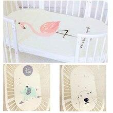 Детские постельные принадлежности Простыня милый матрац с героем мультфильма покрывало Чистый хлопок кроватки простыня