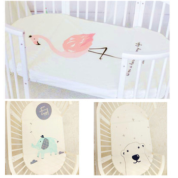 Baby bedding fitted sheet cute cartoon Mattress Cover Pure Cotton Crib Bed Sheet наматрасник candide хлопок turquoise cotton fitted sheet 60x120 cm бирюзовый 693988