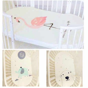 Baby bedding fitted sheet cute cartoon Mattress Cover Pure Cotton Crib Bed Sheet - Category 🛒 Mother & Kids