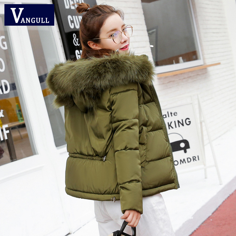 New 2017 Fashion Coat Women Artificial Raccoon Fur Collar Winter Warm Winter jackets Woman Parkas Outerwear spring Cotton Jacket 2017 winter new clothes to overcome the coat of women in the long reed rabbit hair fur fur coat fox raccoon fur collar