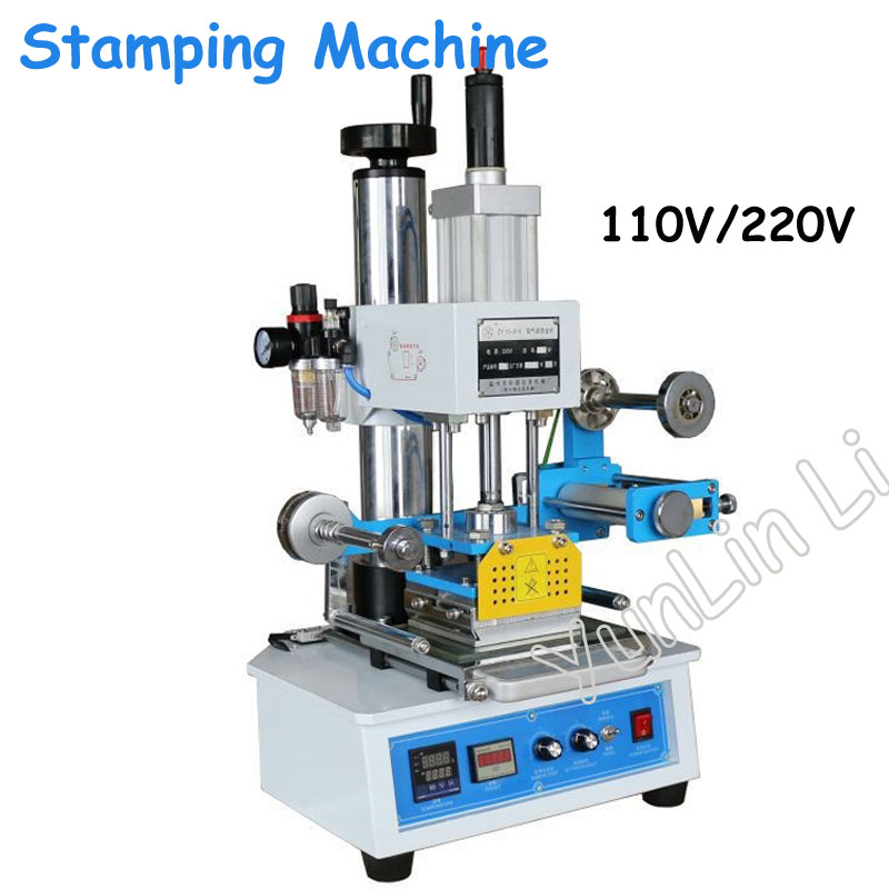 220 V/110 V automatique estampage Machine en cuir Logo rainage Machine pression mots Stamper nom carte estampage fabricant ZY-819-H