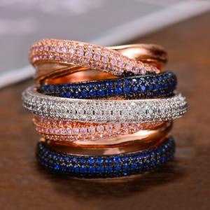 Image 1 - GODKI Monaco Design Luxury Statement Stackable Ring For Women Wedding Cubic Zircon Engagement Dubai Punk Bridal Top Finger Rings