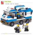 Educational toy 3d plastic city police command vehicle model building kits assembled block children creative gift 1 pc a lot