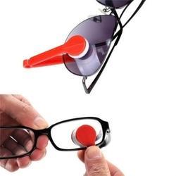 Deux côtés lunettes de soleil brosse lunettes microfibre lunettes nettoyant brosse outil de nettoyage lunettes aléatoires frotter nettoyant