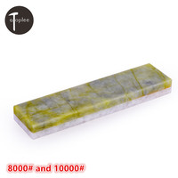 1pcs Natural White Agate 8000 Natural Emerald 10000 Double Sided Sharpening Oil Stone 100 25 10mm