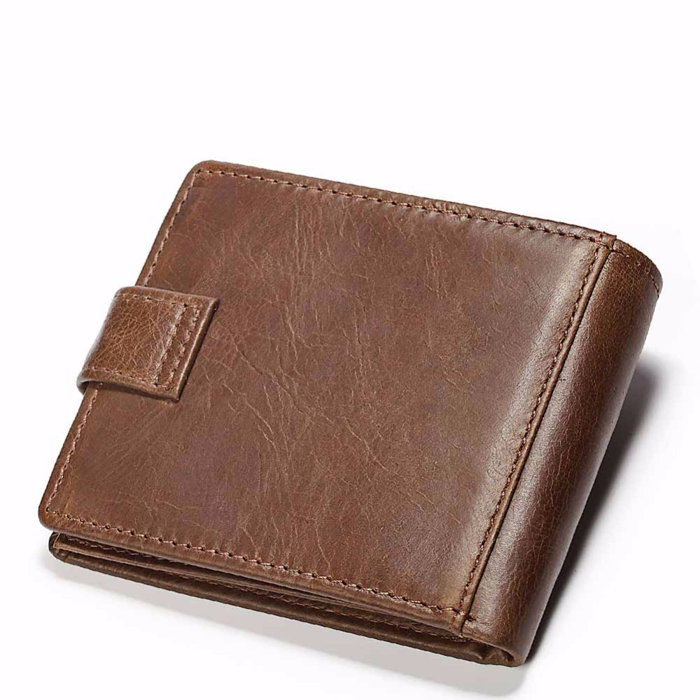 KAVIS Genuine Leather Wallet Men Small Coin Purse Male Cuzdan Walet Portomonee Mini Slim Perse PORTFOLIO Vallet Card Magic Hasp