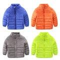 2016 новых зимнее пальто тонкий мальчик молния куртки ватник модная одежда для детей