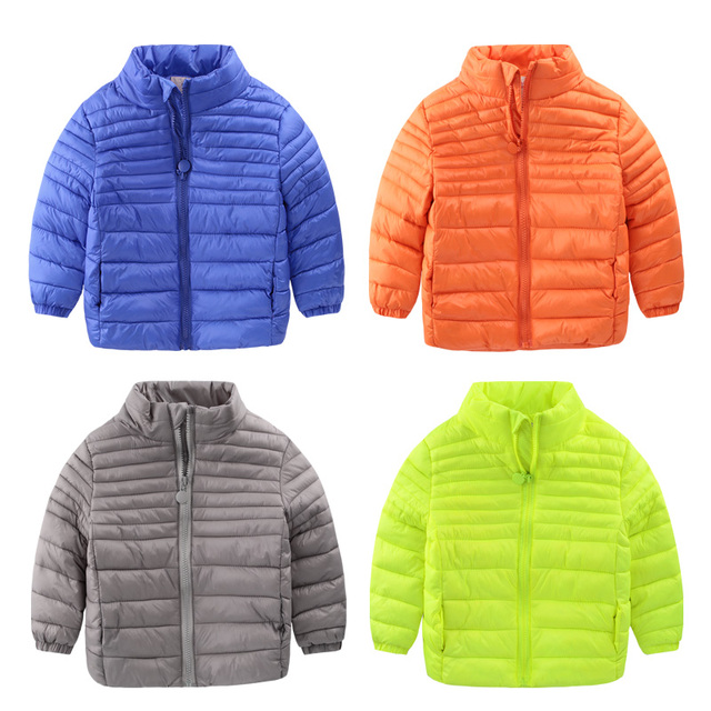 2016 new winter coat thin boy zipper jacket padded jacket fashion clothing for children