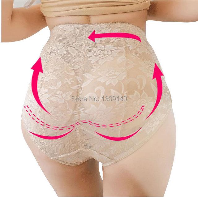 Mulheres de cuecas de renda Sexy push-up calcinha nádegas abundantes Hip de inserções de levantamento / calças / roupa interior enchimento shaper