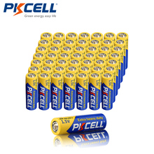 50Pcs x PKCELL R6P 1.5V Super Heavy Duty Battery Carbon Zinc AA Single Use Dry Battery Batteries