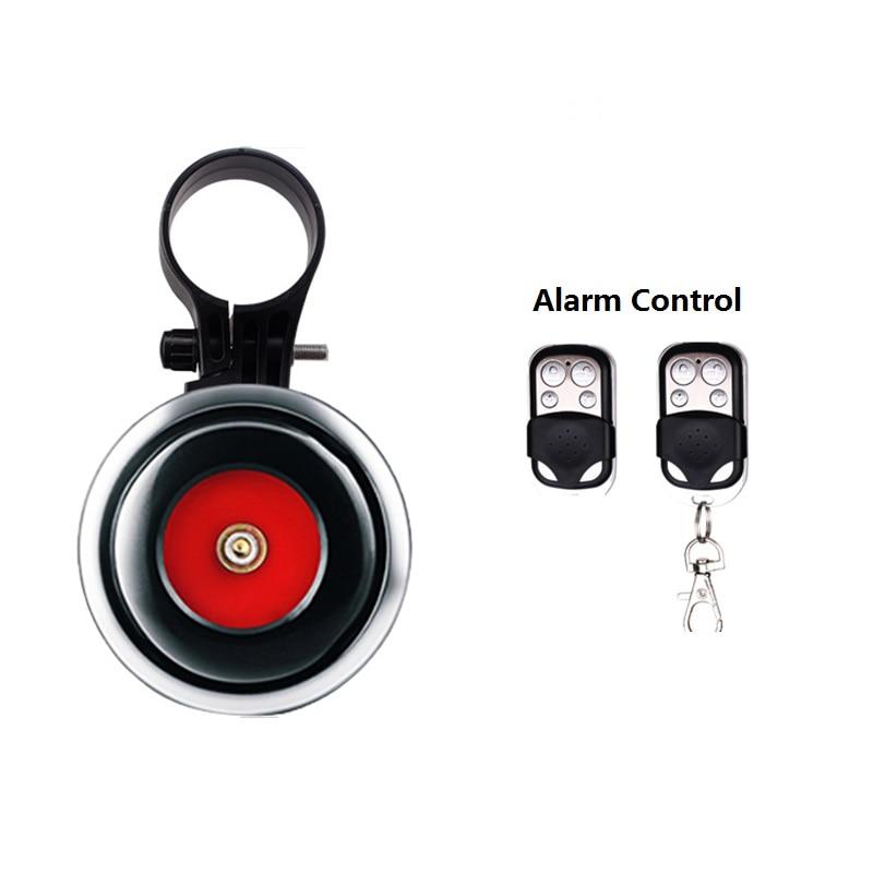 Seguridad de Bicicleta Bocina de Sonido Fuerte Carga USB Ligera Alarma antirrobo de Control Remoto para Motocicleta Bicicleta de monta/ña Accesorio de Bicicleta de Carretera